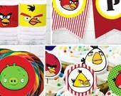 Angry Birds Birthday | Angry Birds Party | Angry Birds Party Printable | Angry Birds Decorations | Angry Birds Printable
