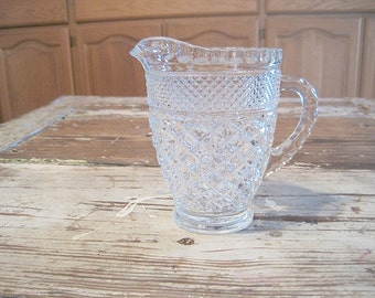 Vintage Anchor Hocking Wexford 18 oz Footed Pitcher