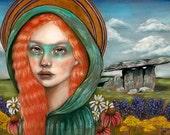 Airmed Celtic goddess pagan Ireland 8x10 fine art print