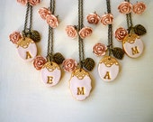 Maid of Honor and Bridesmaids Gifts - Set of 5 necklaces and earrings