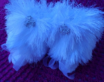 Booties, baby slippers, furry,  luxury slippers, prewalker slippers, special occasion, baby gift, baby girl
