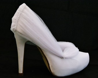 Cinderella Bridal Shoes Disney Inspired Bridal Shoes Subtle Sparkle with Crystal Bead Detail White Satin Any Colour
