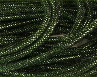 8mm Antique Lime Green Foil  RE3004H2, Flexible Tubing, Poly Mesh Supplies (10 Yards)