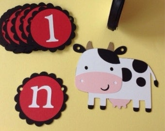First Birthday, picture tag banner, I am 1, Barnyard Animals, Old MacDonald had a farm, custom banner, photo banner