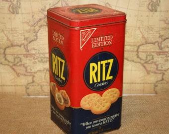 Vintage 1987 Ritz Cracker Tin - item #2349