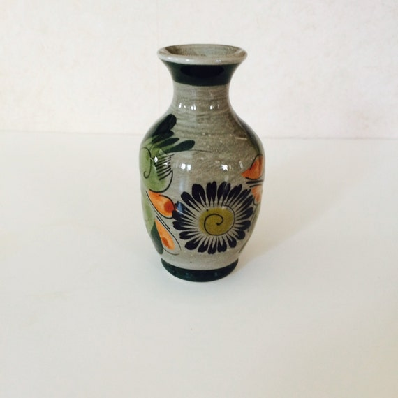 Vintage Mexican Pottery Vase by hazelhome on Etsy