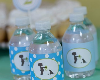 Frogs Snails and Puppy Dog Tails Water Bottle Labels