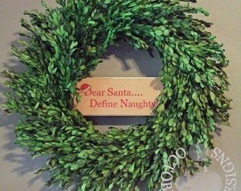 Dear Santa Define Naughty Sign by October Road Designs