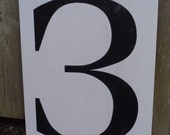 "Number ""3"" framed for Angelia"
