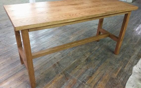 Reclaimed Wood Counter Height Table READY TO SHIP by STMSFurniture