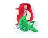 Ribbon Sculpture Hair clip Little Mermaid sculptured ribbon princess Girl hair clip.