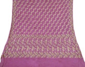 Vintage SILK Shawl/Stole. Regency Style. Mauve Silk Paisley woven brocade