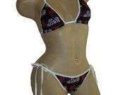 New York Mets Bikini - By Sexy Crushes - Custom Made Top and Scrunch Bottom