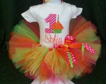 Jeweled Sprinkles Cupcake Birthday outfit