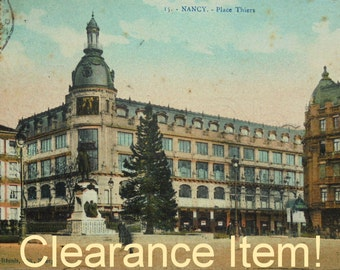 Antique French Postcard - 'Place Thiers' Nancy, France (Clearance Item)