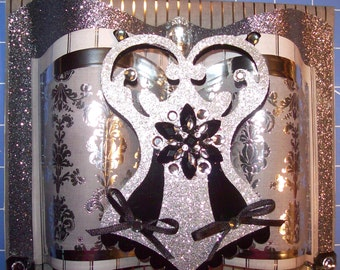 Corset Card - Beautifully Adorned - Celebrate Love, Valentine's Day, Sweetest Day, or Lady's Birthday