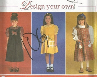 Simplicity 7821 Girls Design Your Own Jumper Pattern SZ 5-8   Clearance Item