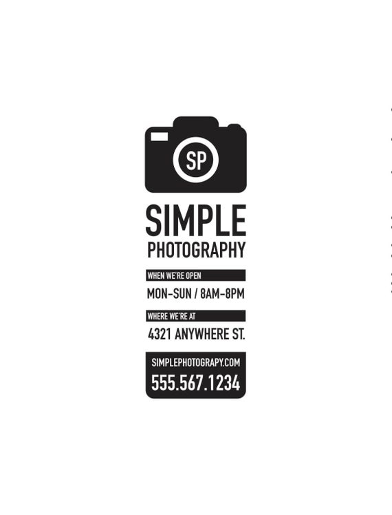 Photography sign / Studio sign / Camera sign / store hours / vinyl sign / window sign / photography studio / decal / sticker