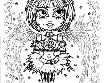 gothic coloring pages - photo#23