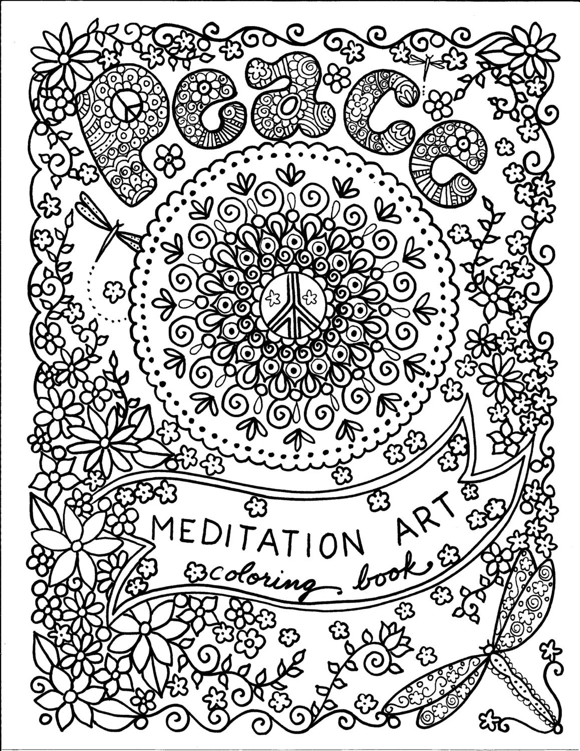 Coloring Books For Meditation Yoga And Meditation Meditative Coloring Pages