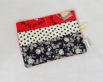 Tea Bag Wallet , Handmade Tea Bag Holder ,  Handmade Tea Bag Wallet Yellowheart Button