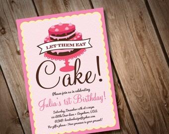 DIY Printable Let them Eat Cake Invitation