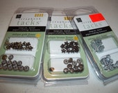 Lot of 3 Flower Scrapbook Tacks by Chatterbox (Over 13 Dollar Retail)