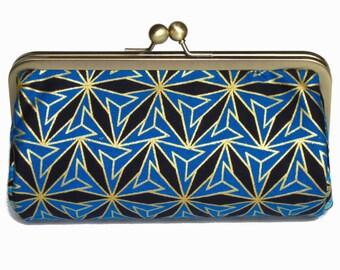 African fabric clutch bag, baguette clutch purse