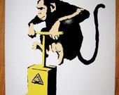 Banksy Print  - Monkey TNT  - Multiple Paper Sizes