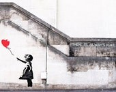 Banksy Print  - There is ALWAYS HOPE - Multiple Paper Sizes