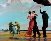 Banksy Art Print  - Dancing Butler on Toxic Beach  - Multiple Paper Sizes