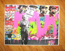 Banksy Canvas (READY TO HANG) - Love is the Answer - Multiple Canvas Sizes