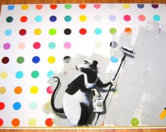 Banksy Print  - Banksy Does Damien Hurst aka Clean it Up - Multiple Paper Sizes
