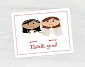Lesbian Wedding Cards, Wedding Thank You, Lesbian Couple, LGBT Wedding, Wedding Shower Thank You Card, Wedding Lesbian, Cartoon Wedding