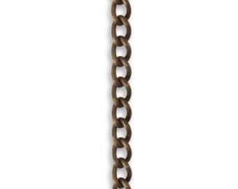 Vintaj 3.3mm Curb Chain, Natural Brass, 16 inch chain, CH0010 - ID 1933