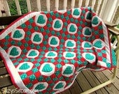 Quilt Pattern, quilt, hearts, sewing, quilting, lap quilt, quilt design, red, teal, pdf pattern