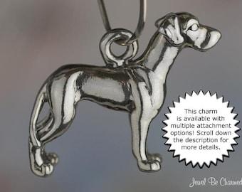 Great Dane Charm Sterling Silver Danes Purebred Dog Breed