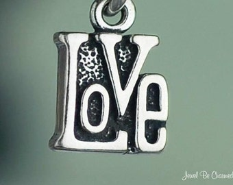 Love Charm Miniature Sterling Silver Wedding Word Very Small Tiny