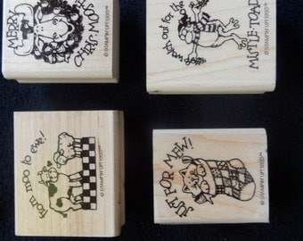 Christmas - Mice- Moose- Cat - Cow- Stampin Up- WM rubber stamp  (4)