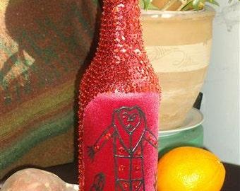 Haitian sequin bottle - Grand Bois