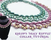 Silky Kheop Ruffle Collar Pattern, Superduo Beadweaving Necklace Tutorial, Two Hole Beaded Necklace PDF Instructions, Laura Graham Design