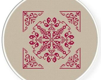 Instant Download,Free shipping,Cross stitch pattern, Cross-Stitch PDF, vintage folk pattern, ,zxxc0420