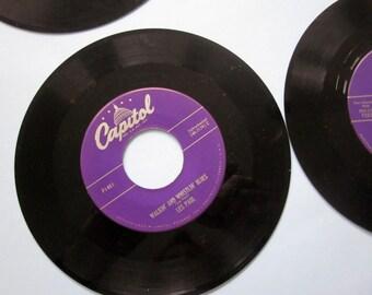 4 Vintage Les Paul Mary Ford recordings, 45 RPM, original distribution