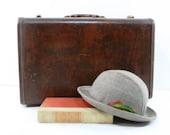 Vintage Samsonite Suitcase, Houndstooth Interior