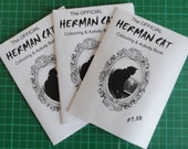 A6 Black & White Cat Zine - The Official Herman Cat Colouring and Activity Book