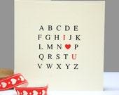 Alphabet 'I Love You' Card