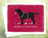 Black Lab Christmas Card from the Breed Collection - Digital Download Printable