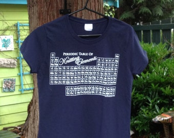 The Periodic Table of Knitting Elements Tshirt