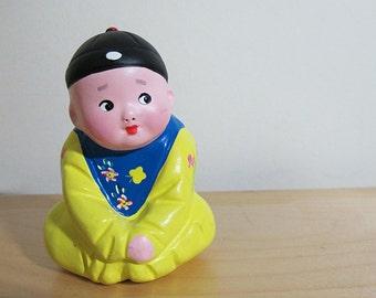 Vintage Hand Painted Asian Figurine