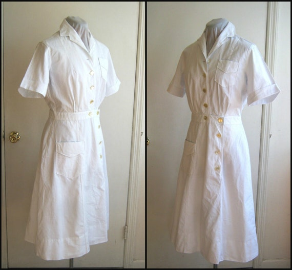 Nurse Dresses Uniforms White Dress Uniform Pure White